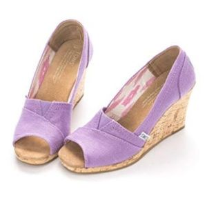 TOMS Orchid Hemp Women's Sustainable Wedges 8.5